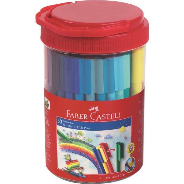 Carioca 50 Culori Connector Borcan Faber-Castell