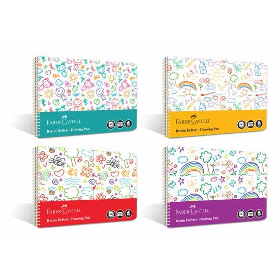 Bloc desen A4, 30 file, 120g/mp, coperta plastic, Faber-Castell Fun