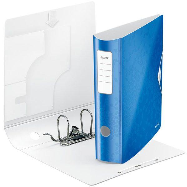 Biblioraft plastifiat 75mm 180grade Active Leitz - albastru