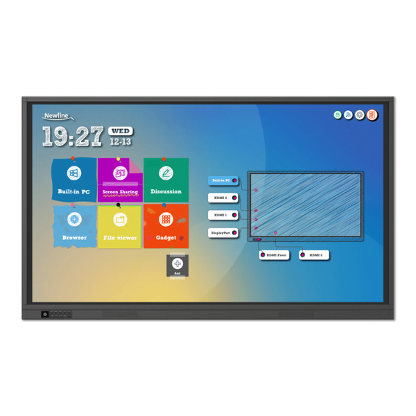 Display interactiv NEWLINE TRUTOUCH TT-7519RS, 75 inch, 4K, Android 8.0, WiFi