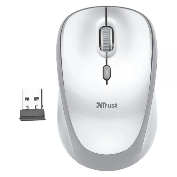 Mouse wireless TRUST Yvi FX - alb