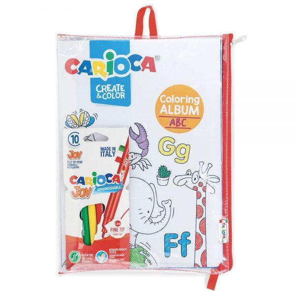 Set articole creative, cu album pentru colorat CARIOCA Create & Color - ABC & Number