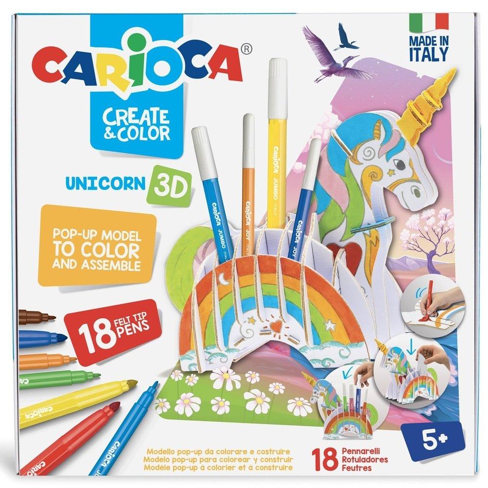 Set articole creative CARIOCA Create & Color - UNICORN 3D