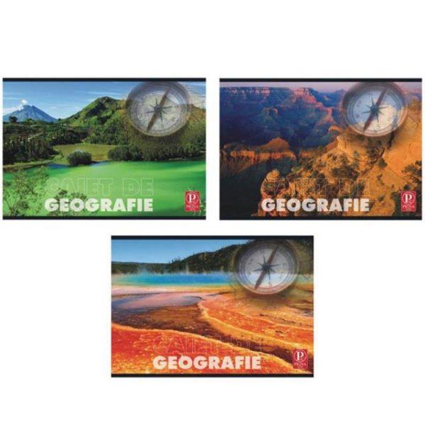 Caiet de geografie 24 file Color Pigna