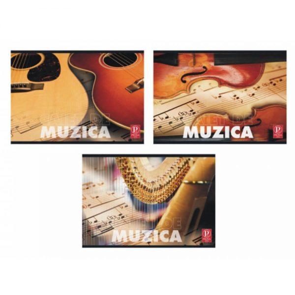 Caiet muzica 24 file color Pigna