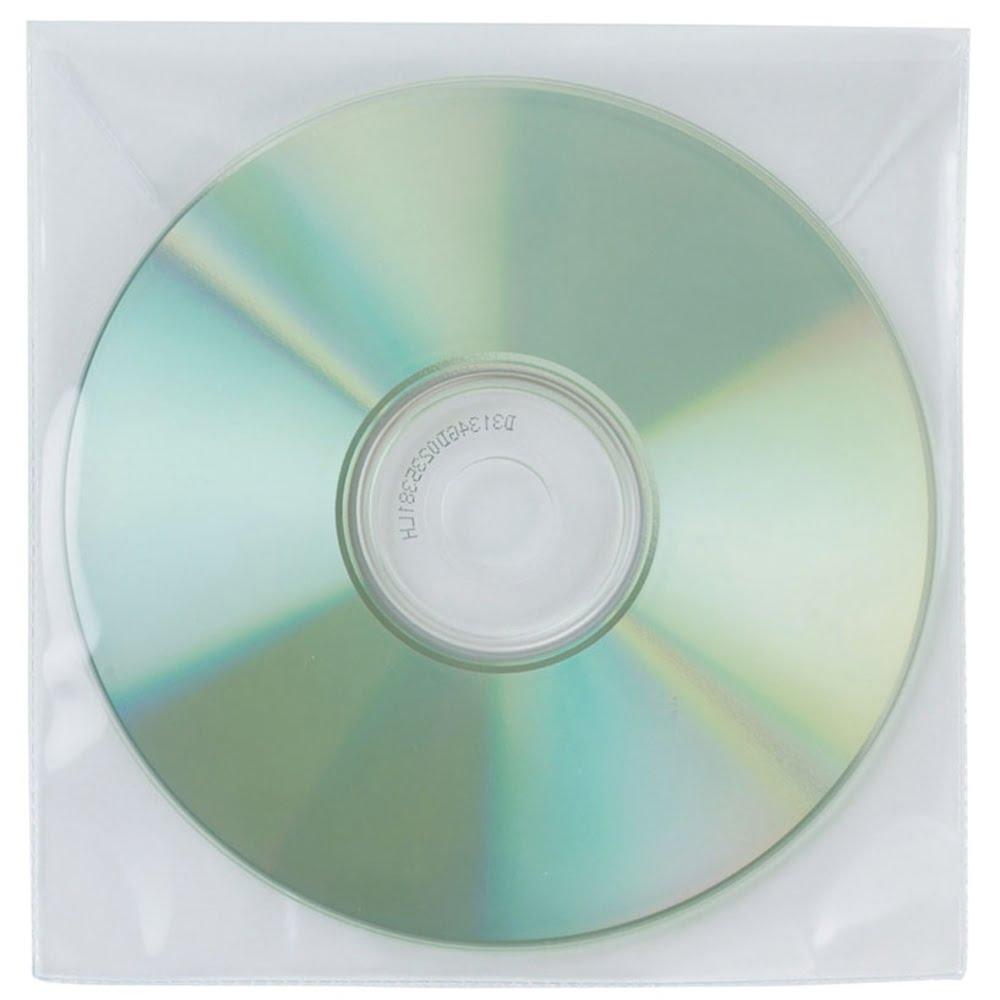 Plicuri plastic pentru CD/DVD, 50 buc/set, Q-Connect
