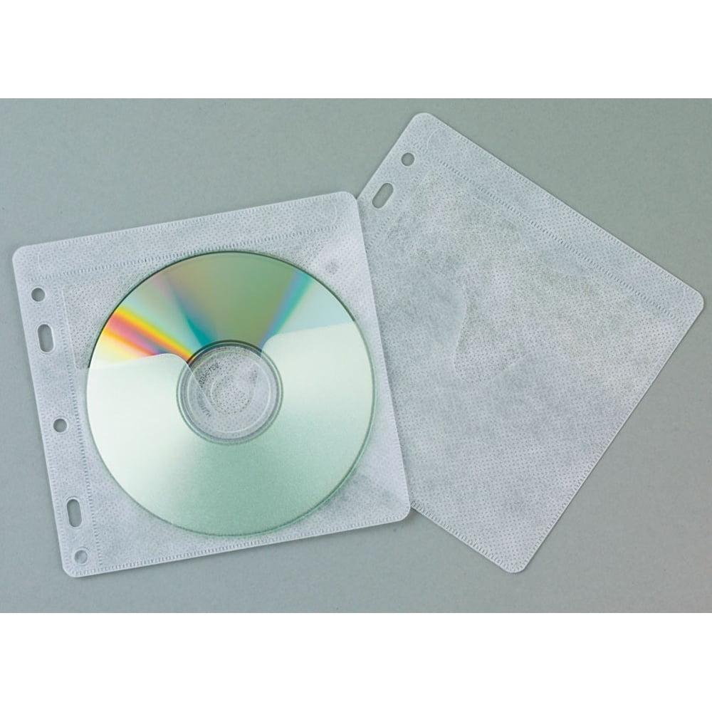 Plicuri plastic pentru 2 CD/DVD, 40 buc/set, Q-Connect