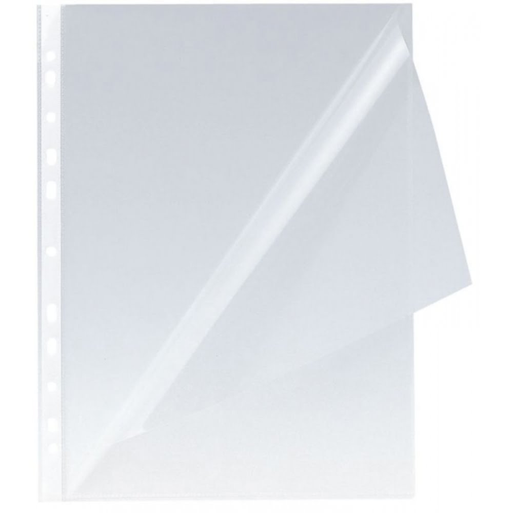 "Folie protectie ""L"" pentru documente A4, 150 microni, 100 buc/set, Q-Connect - cristal"