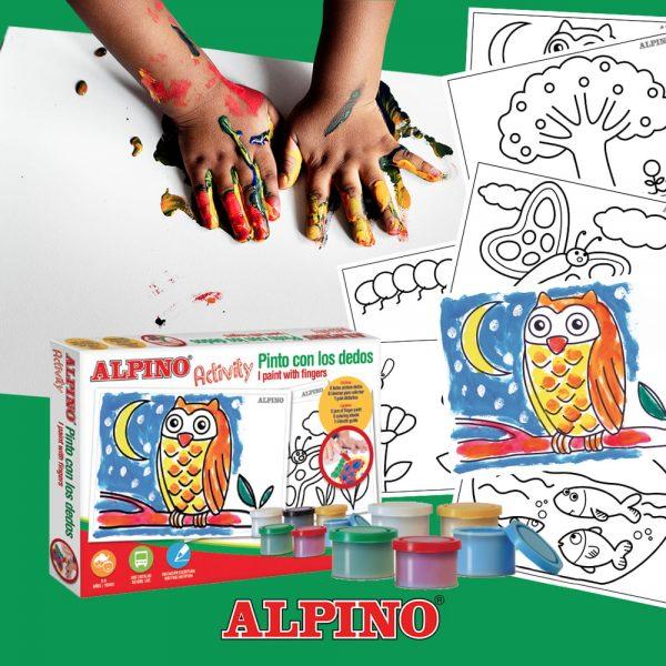 Cutie cu articole creative pentru copii, ALPINO Activity - Paint with the finger