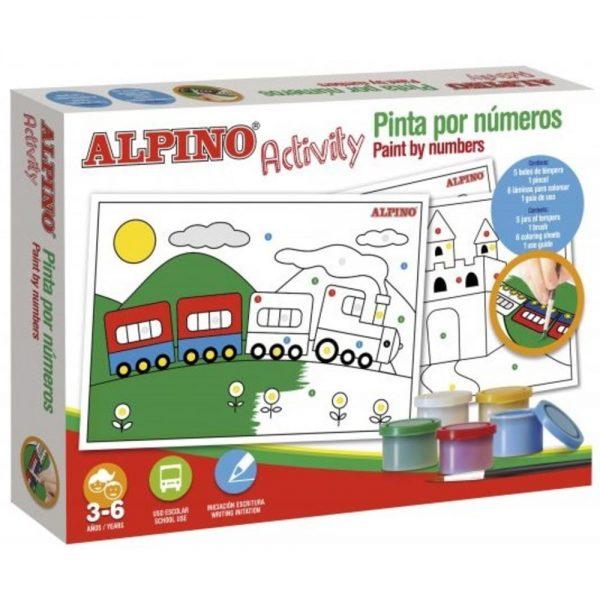 Cutie cu articole creative pentru copii, ALPINO Activity - Paint by numbers