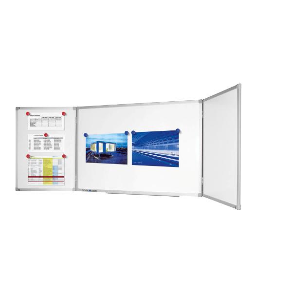 Tabla magnetica triptica Legamaster Economy Plus, 90 x 240 cm