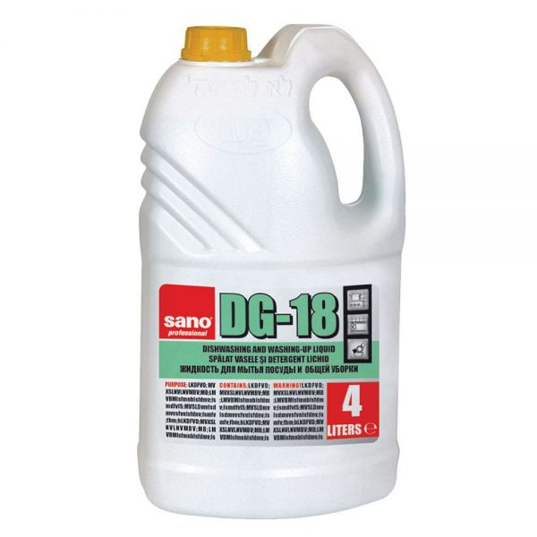 Detergent de vase lichid SANO Professional DG-18, 4 L