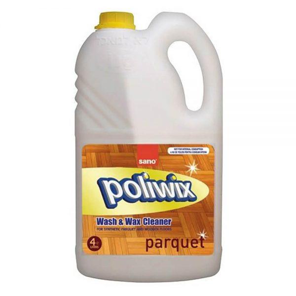 Detergent pentru parchet SANO Poliwix Parquet, 4 L
