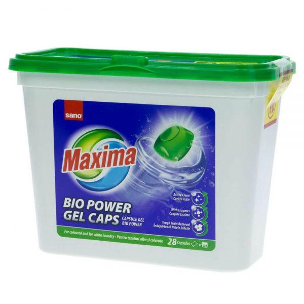Detergent capsule SANO Maxima Gel Bio Power, 28 capsule