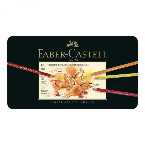 Creioane colorate 120 culori/cutie, Polychromos, Faber-Castell