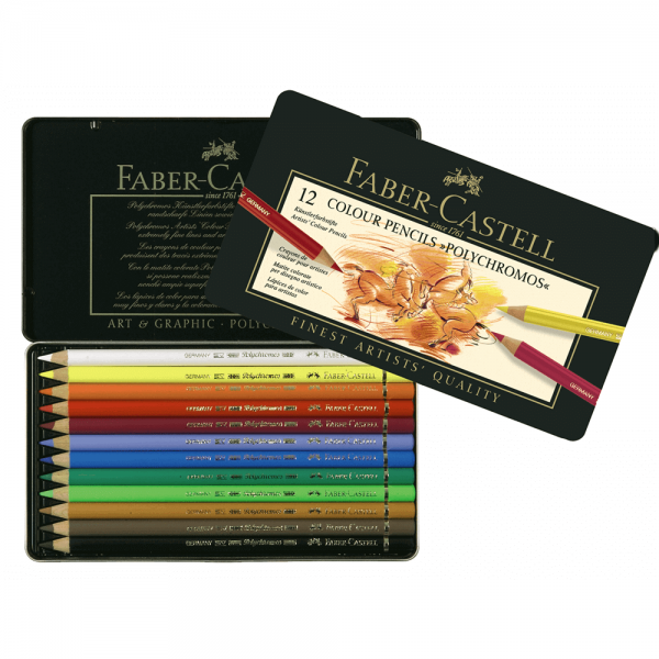 Creioane colorate Polychromos FABER-CASTELL, 12 culori/cutie