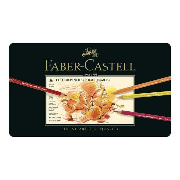 Creioane colorate Polychromos, 36 culori/cutie, Faber-Castell