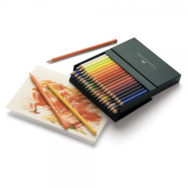 Creioane colorate Polychromos studio, 36 culori/cutie, Faber-Castell