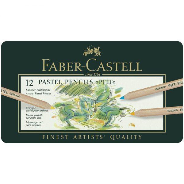 Creioane pastel Pitt 12 culori/cutie, Faber-Castell