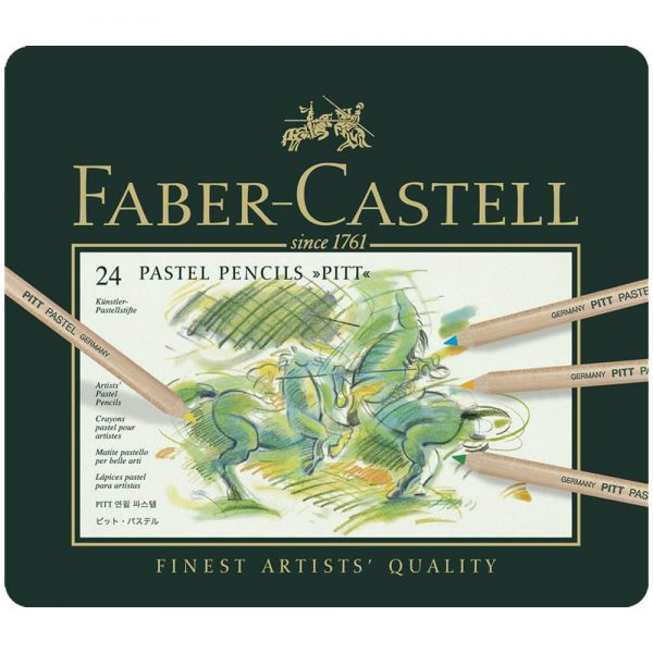 Creioane pastel Pitt 24 culori/cutie, Faber-Castell