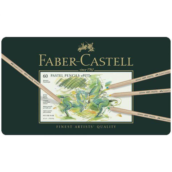 Creioane pastel Pitt 60 culori/cutie, Faber-Castell
