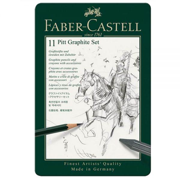 Set creion grafit Pitt Monochrome 11 buc/set, Faber-Castell