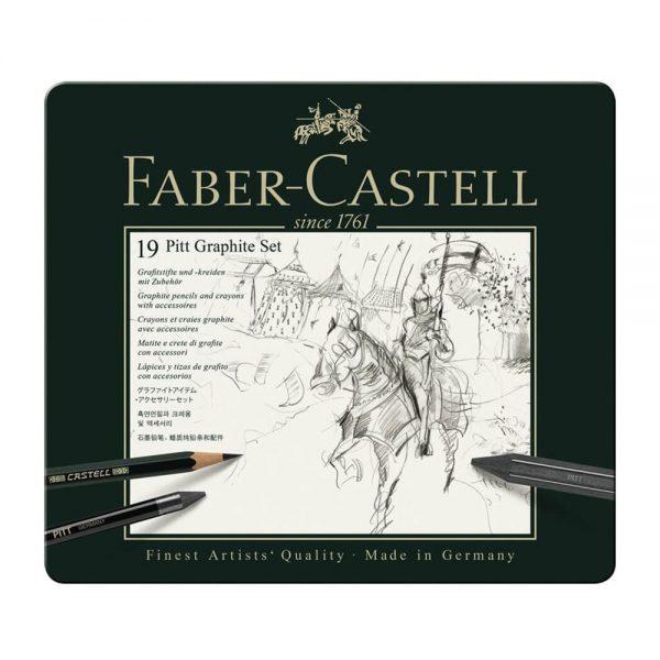 Set desen FABER-CASTELL Pitt Monochrome Carbune 19 buc/set, FC112973