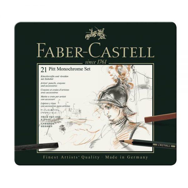 Set desen FABER-CASTELL Pitt Monochrome 21 piese