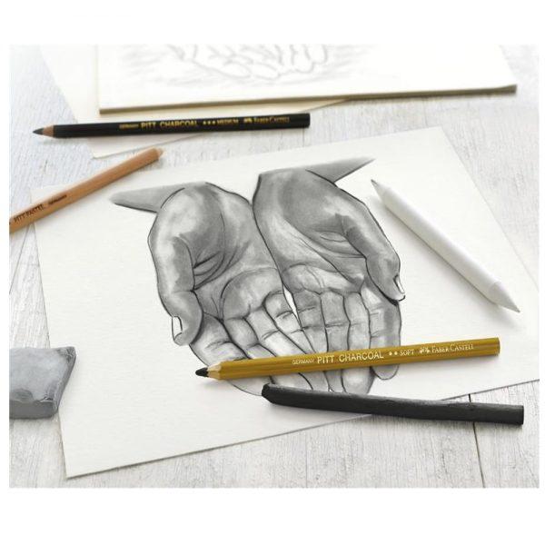Carbune pentru desen si schite, Faber Castell