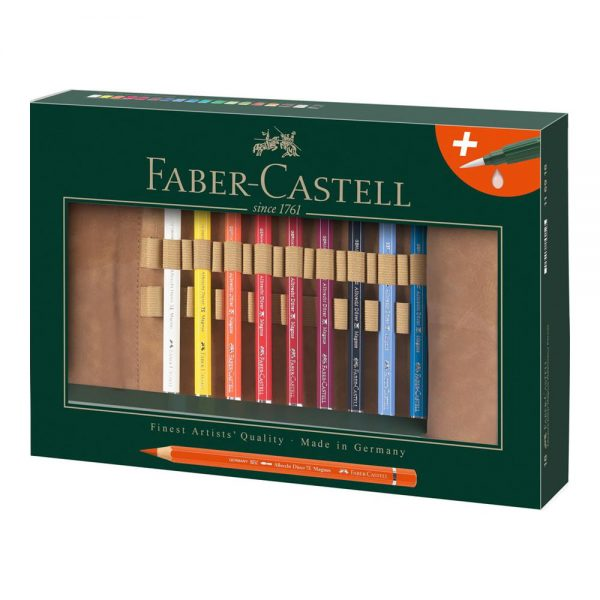 Creioane colorate acuarela 18 buc/set FABER-CASTELL Albrecht Durer Magnus, Rollup