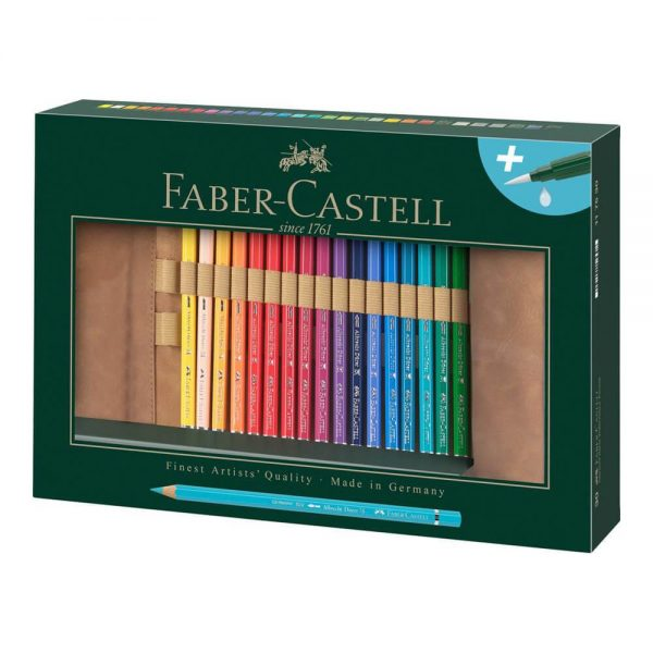 Creioane colorate acuarela 30 buc/set FABER-CASTELL Albrecht Durer Rollup