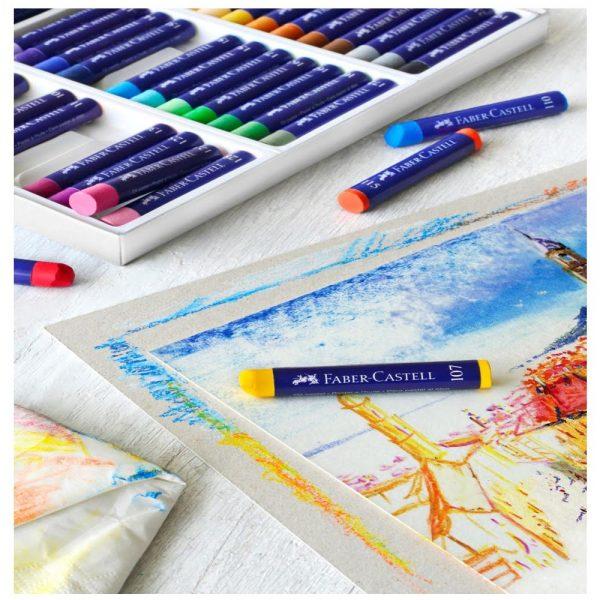 Creioane ulei pastel Faber-Castell, 12 buc/cutie