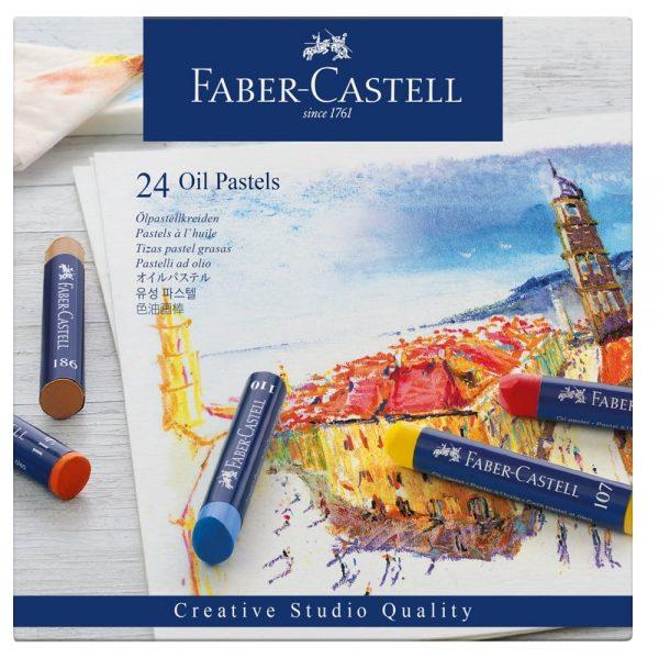 Creioane ulei pastel 24 culori/cutie, Faber-Castell
