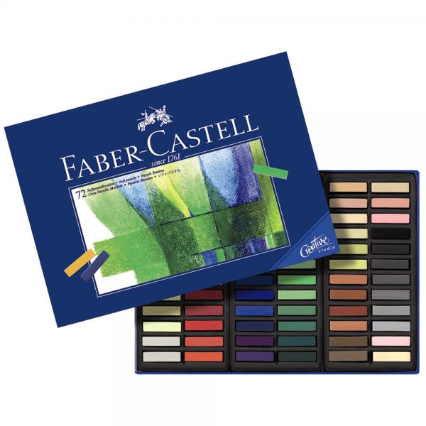 Creioane Pastel Soft Mini, 72 culori/cutie, FABER-CASTELL