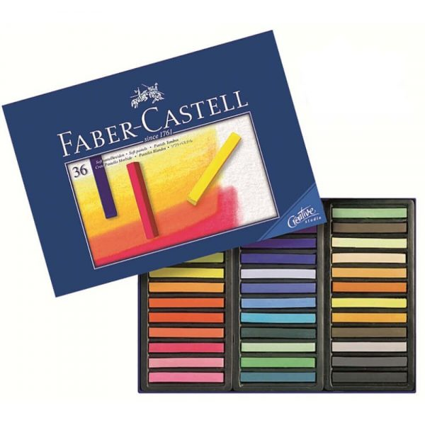 Creioane Pastel Soft FABER-CASTELL, 36 culori/cutie