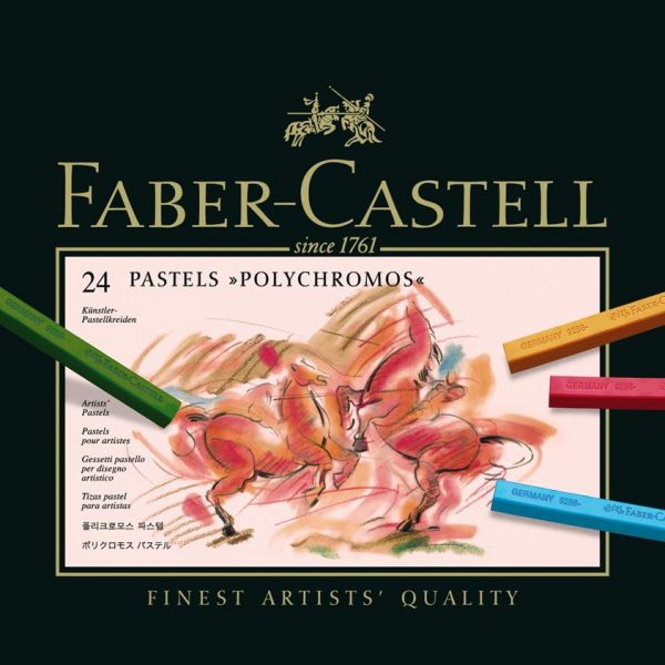 Creioane pastel 24 culori/cutie, Polychromos Faber-Castell