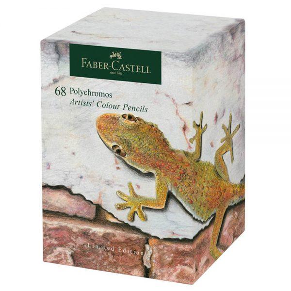 Creioane colorate Polychromos FABER-CASTELL, 68 culori/cutie