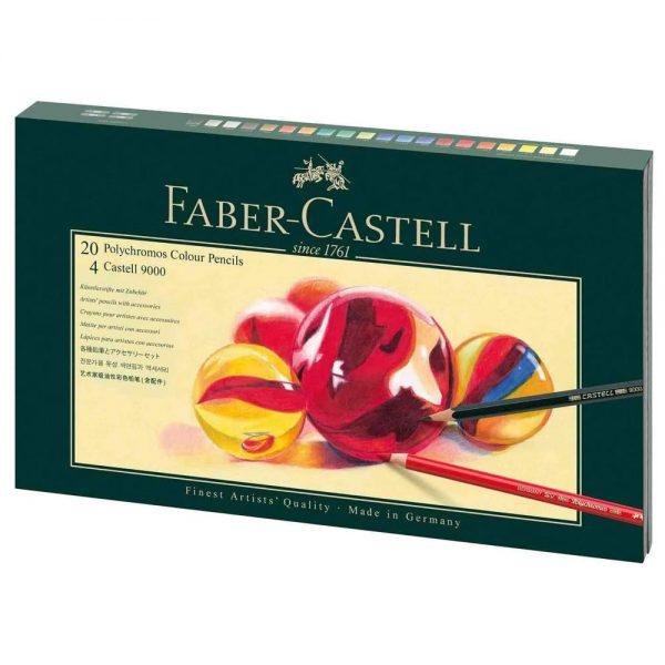 Set desen FABER-CASTELL Polychromos, 26 buc/cutie