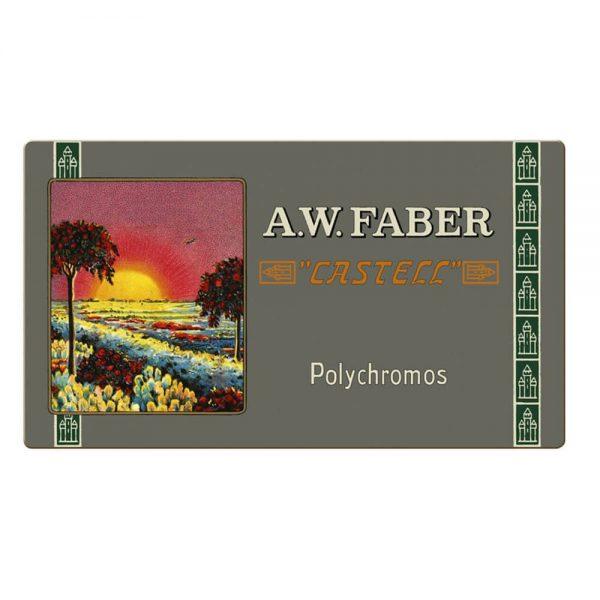 Creioane colorate Polychromos Faber-Castell, 111 ani, 36 culori/cutie