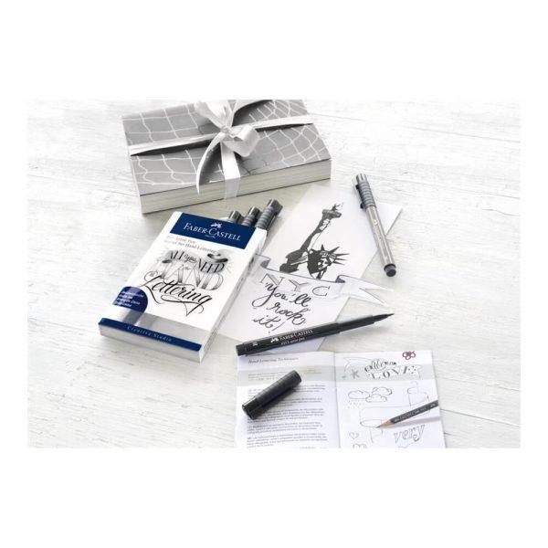 Set caligrafie FABER-CASTELL Pitt Artist Pen Lettering, 8 buc/set