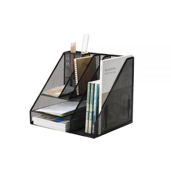 Organizer metalic de birou, 7 compartimente, Q-Connect