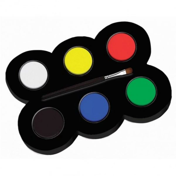 Set machiaj ALPINO Make-up pallete Classic - 6 culori + pensula