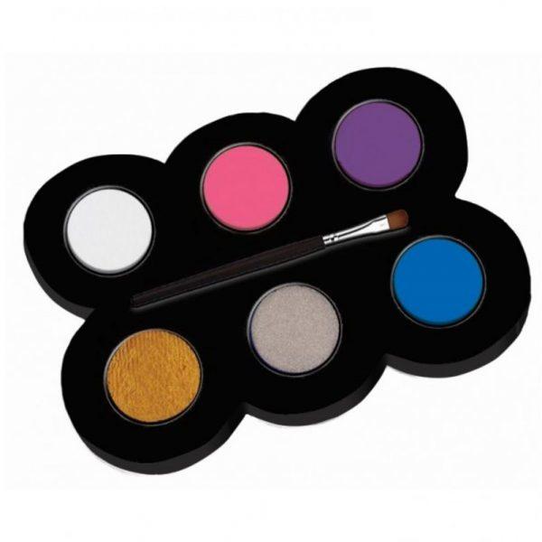 Set machiaj ALPINO Make-up pallete Princess - 6 culori + pensula