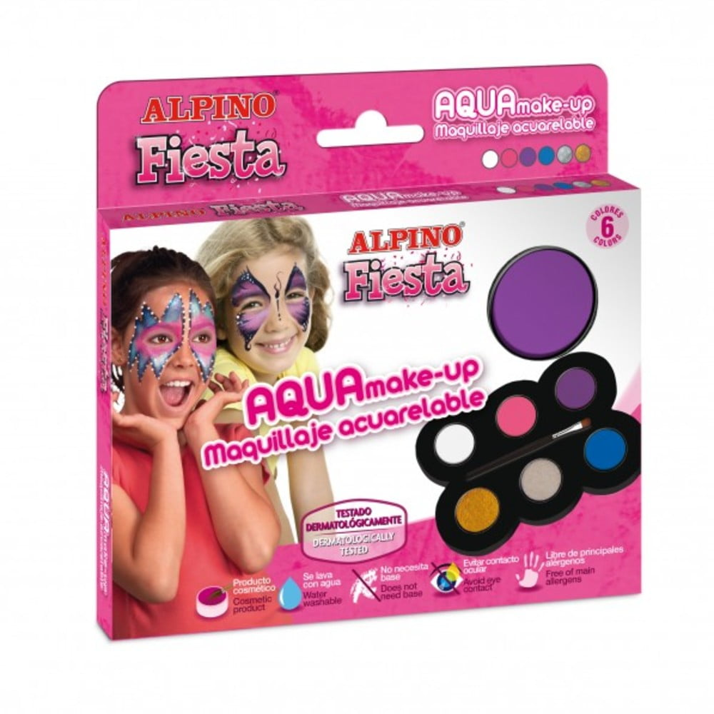 Set machiaj ALPINO Make-up pallete Princess - 6 culori + pensula