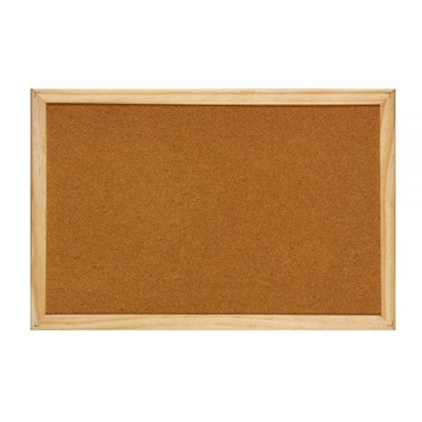 Panou pluta cu rama din lemn, 40 x 60 cm, Optima