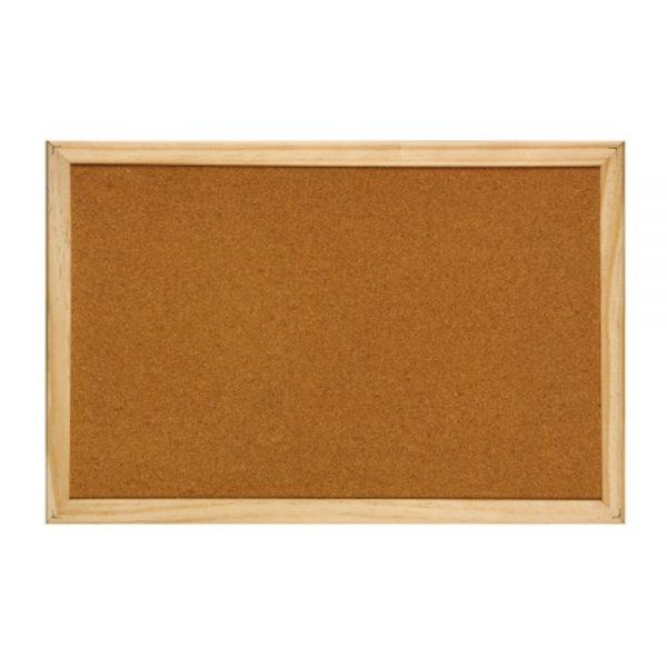 Panou pluta cu rama din lemn, 60 x 90 cm, Optima