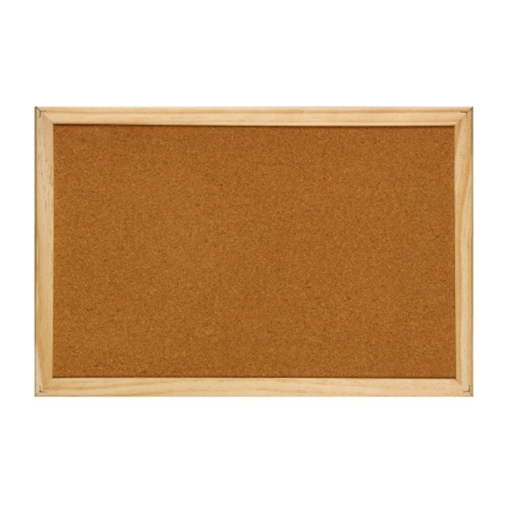 Panou pluta cu rama din lemn, 90 x 120 cm, Optima