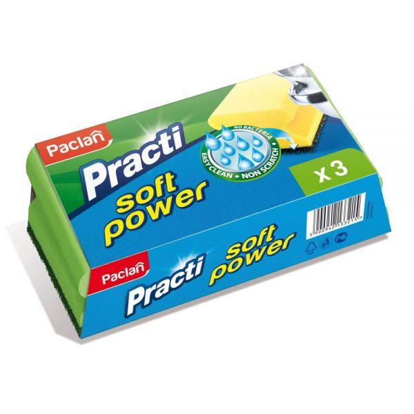 Burete de vase PACLAN Practi Soft Power, 3 buc/set