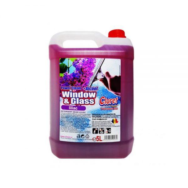 Detergent pentru geam Cloret Liliac 5 L