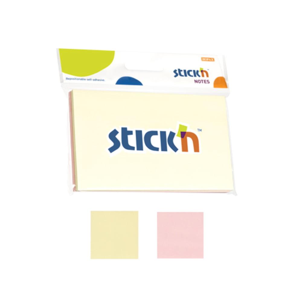 "Notes autoadeziv 76x127 mm, 2x50 file/set, Stick""n - 2 culori pastel"